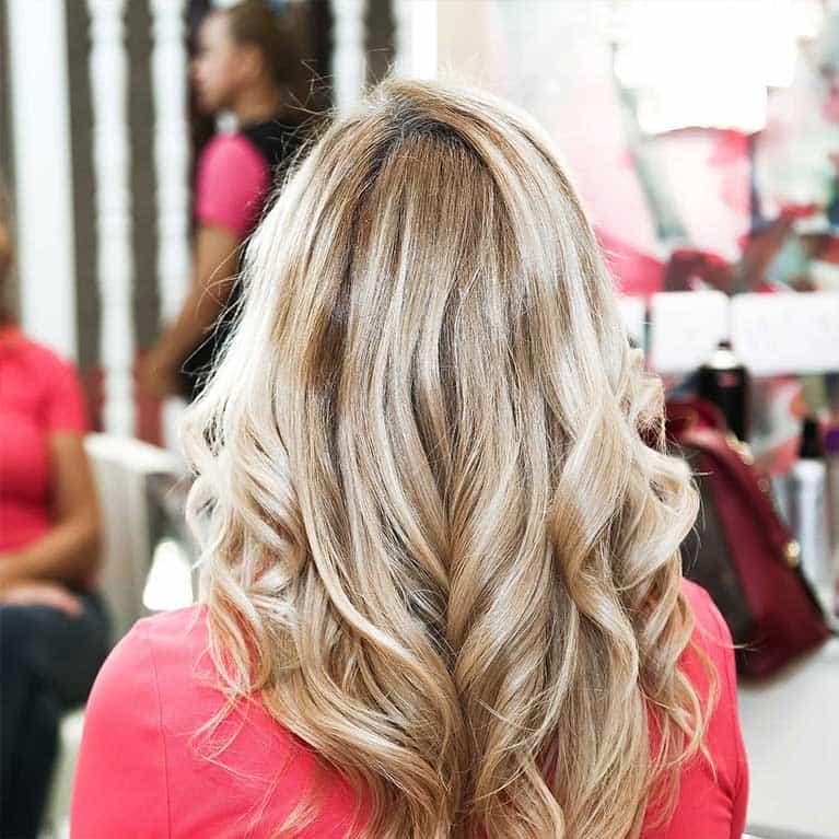 ombre highlights salon