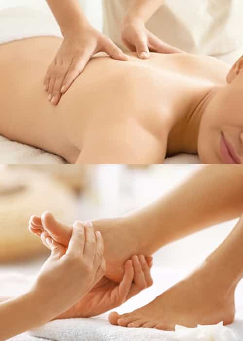 Back Massage 20mins  and Foot Massage 20mins