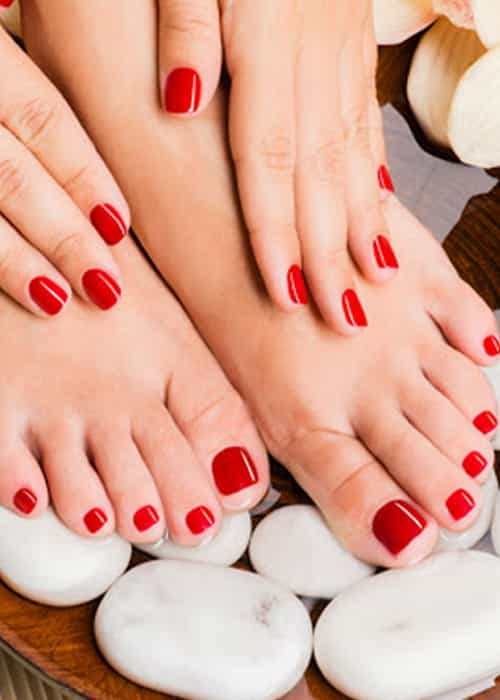 Gelish mani/ Pedi with foot massage 20mins