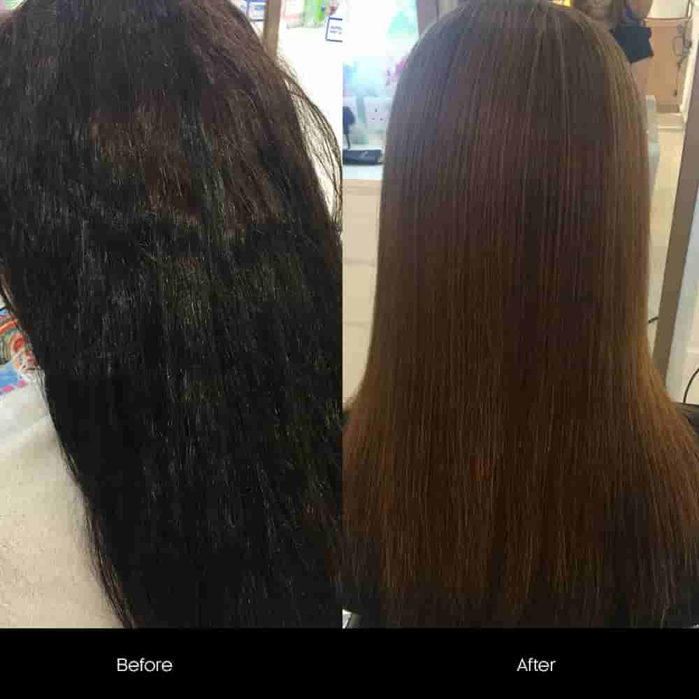 keratin hair treatment before after