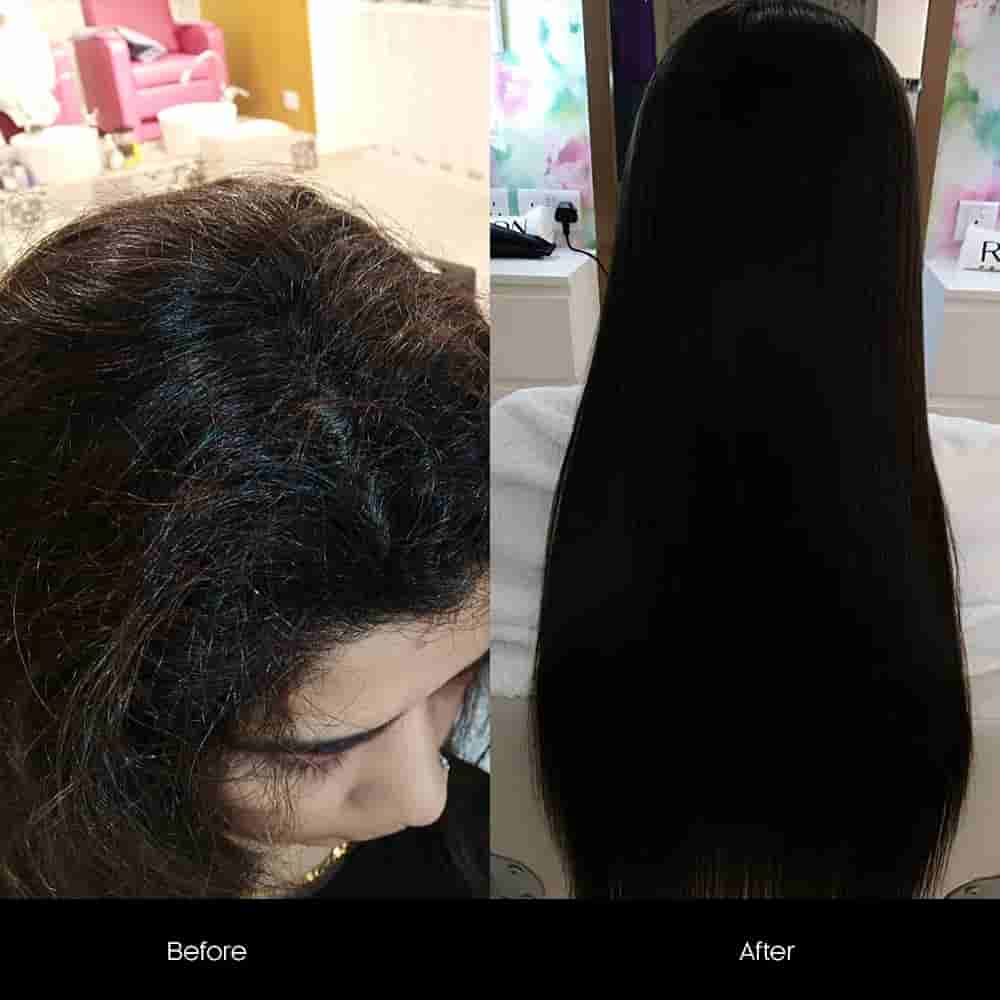 hair botox treatment before after
