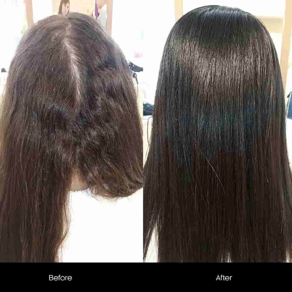 hair botox before after