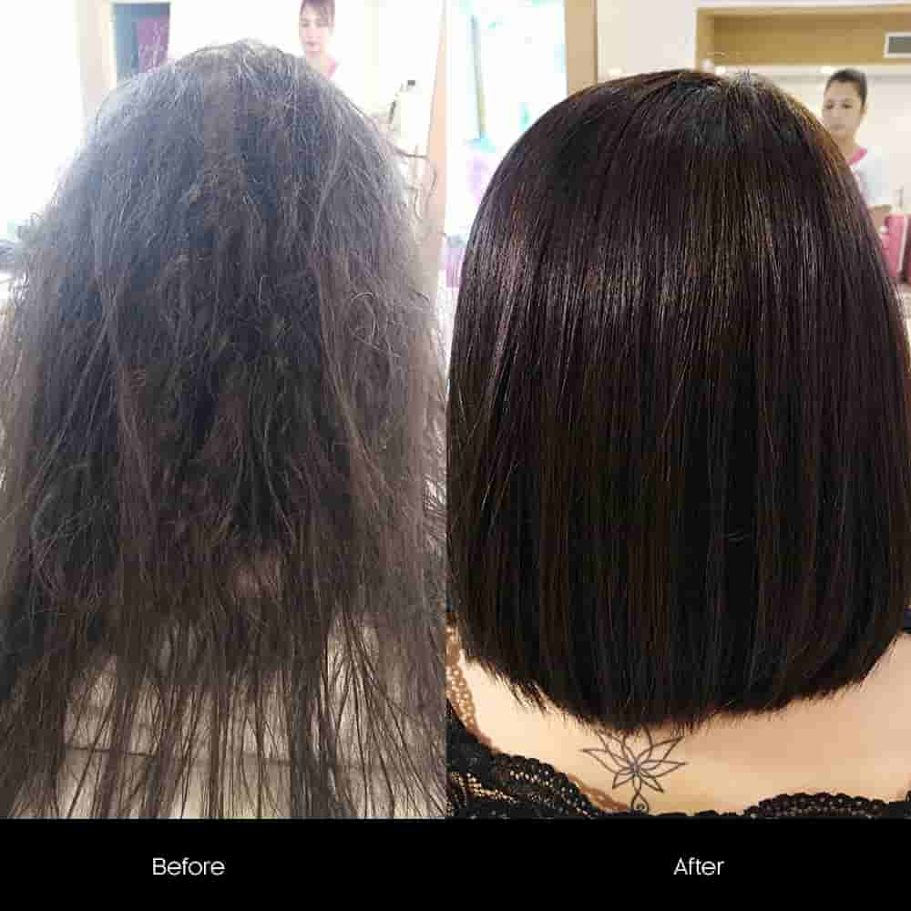 hair botox treatment before after salon