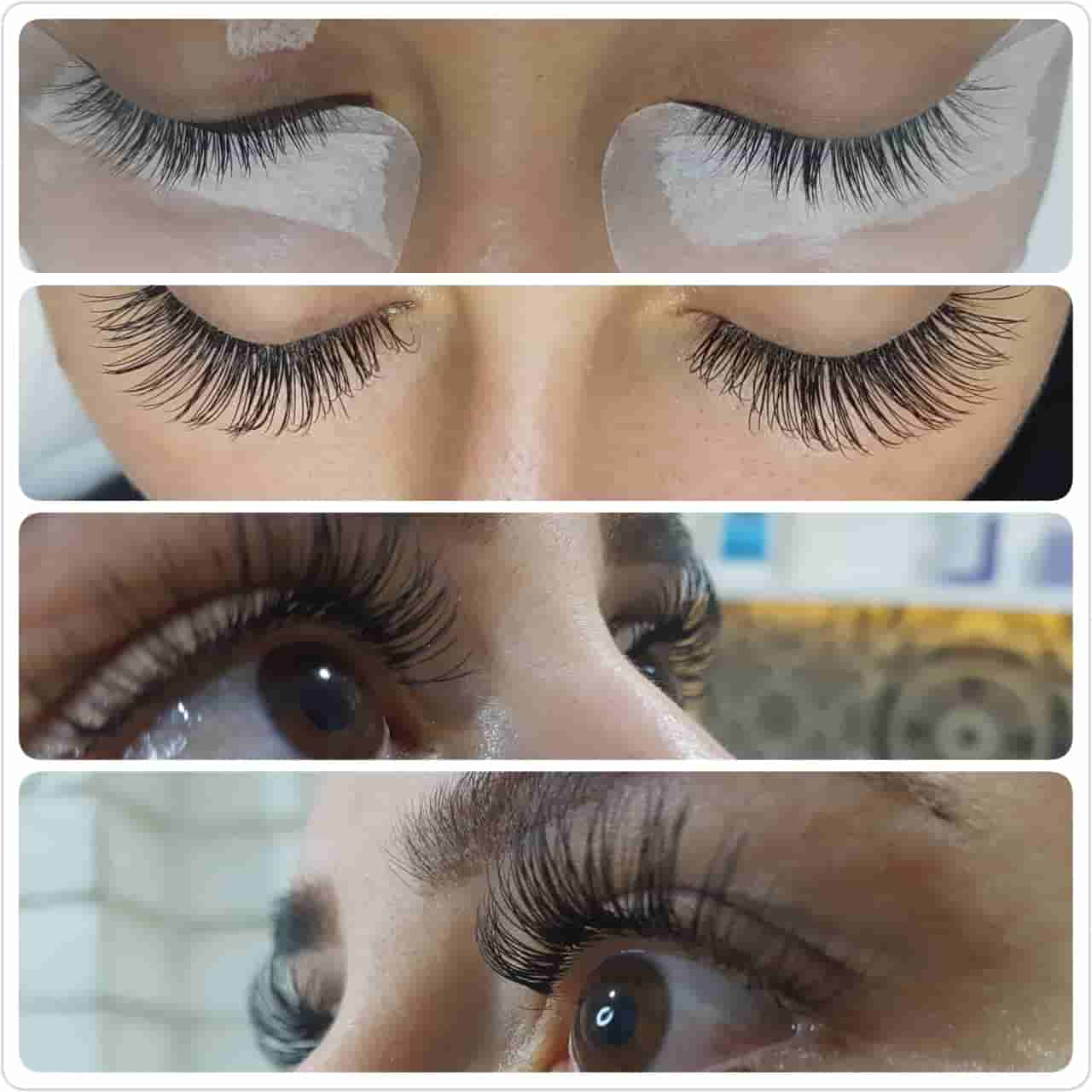 eyelash extension before after